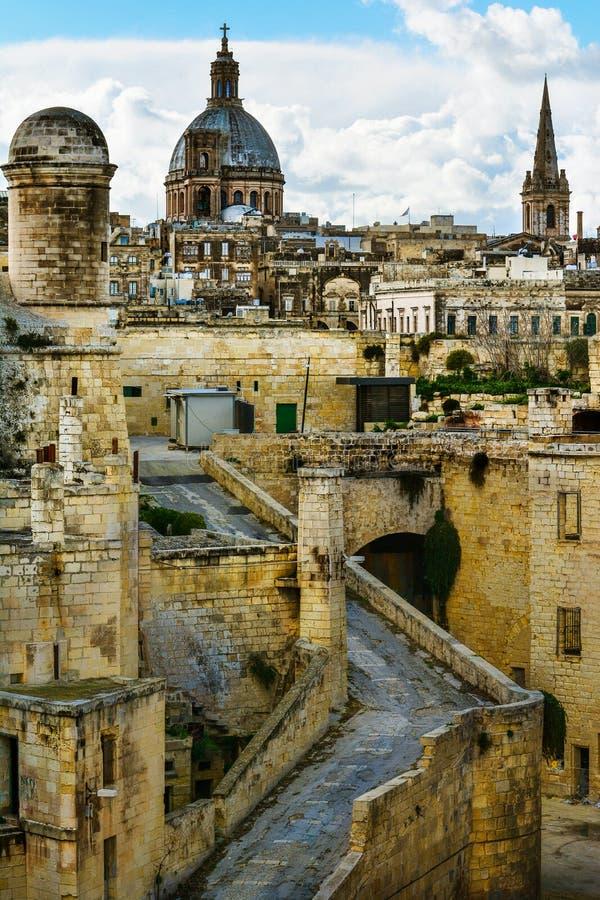 Fuerte St Elmo, La Valeta, Malta imagenes de archivo