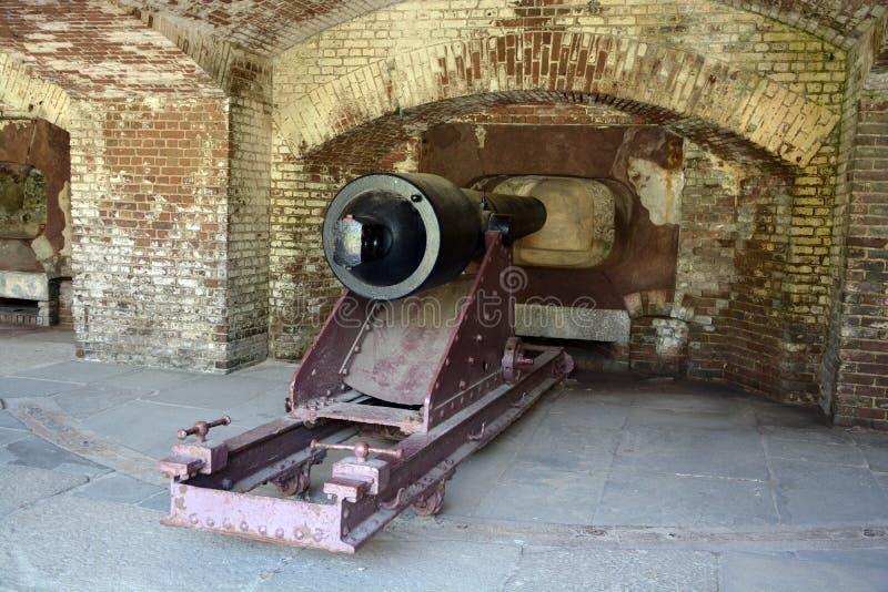 Fuerte Sumter de Canon imagenes de archivo