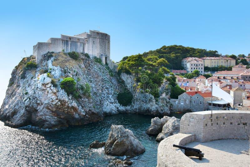 Fuerte viejo Lovrijenac en Dubrovnik, fotografía de archivo