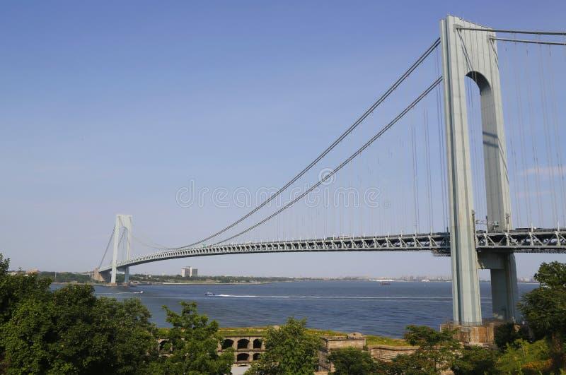 Fuerte Wadsworth en el frente del puente de Verrazano en Nueva York fotografía de archivo