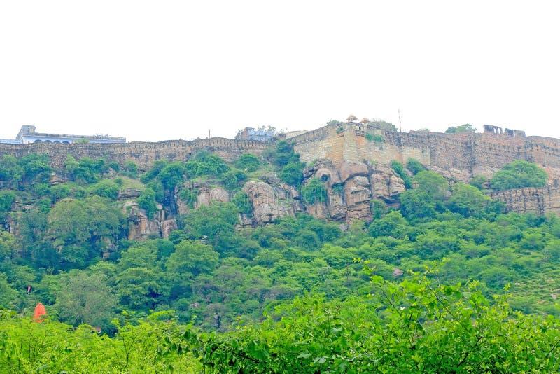 Fuerte y argumentos masivos Rajasthán la India de Chittorgarh fotos de archivo libres de regalías