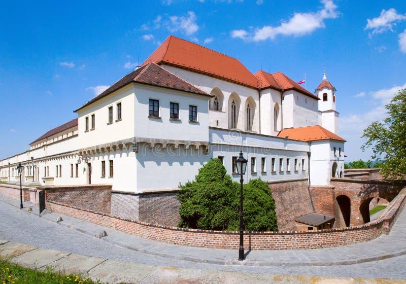 Fuerte y prisión medievales, ciudad Brno, Moravia, representante checo de Spilberk fotos de archivo