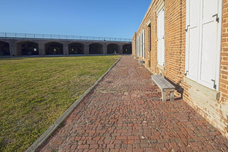 Fuerte Zachary Taylor Old Brick Foot Path fotografía de archivo