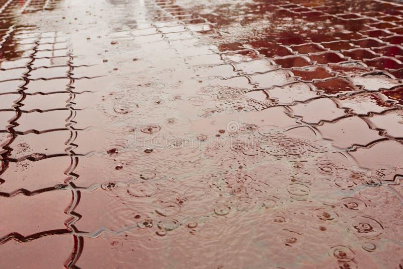 Fuertes lluvias foto de archivo