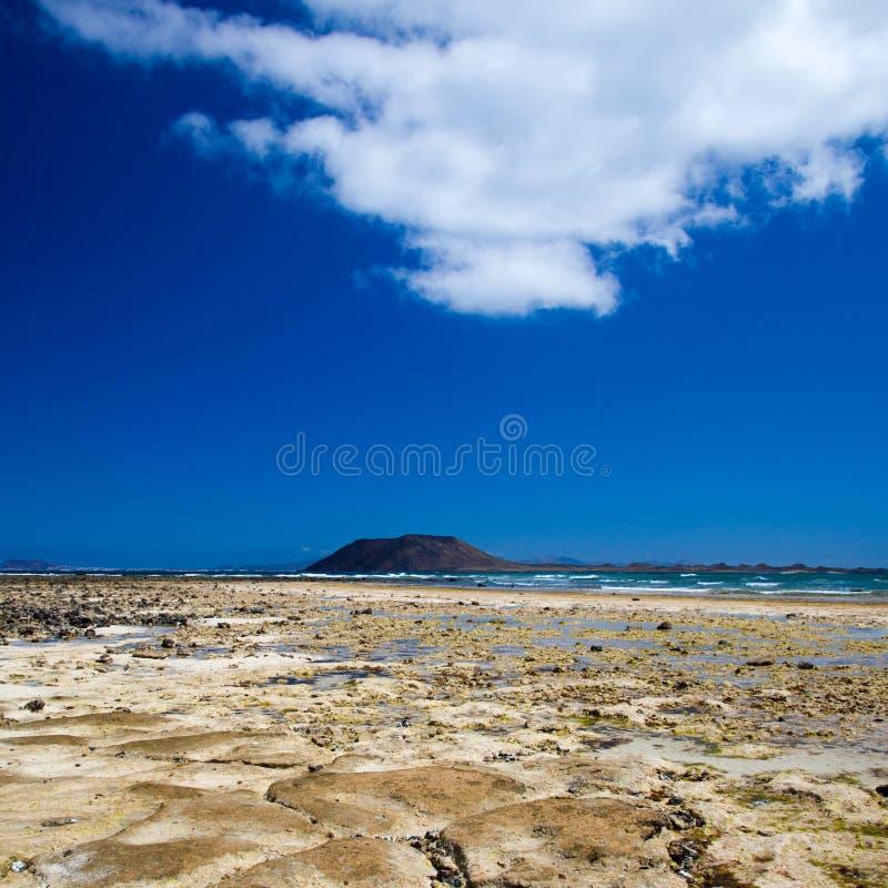 Fuerteventura, παραλία σημαιών Corralejo στοκ φωτογραφία με δικαίωμα ελεύθερης χρήσης