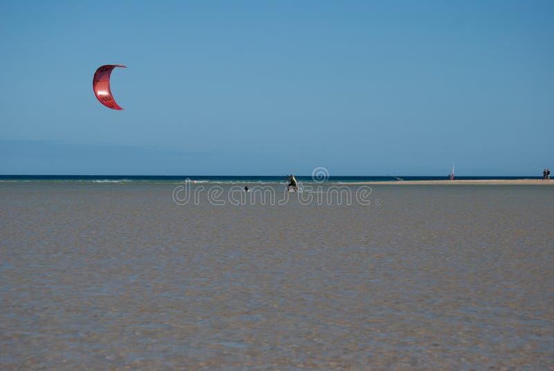 Fuerteventura, amis de cerf-volant image libre de droits