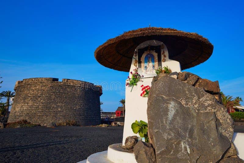 Fuerteventura Caleta del Fuste Canarische Eilanden stock foto's