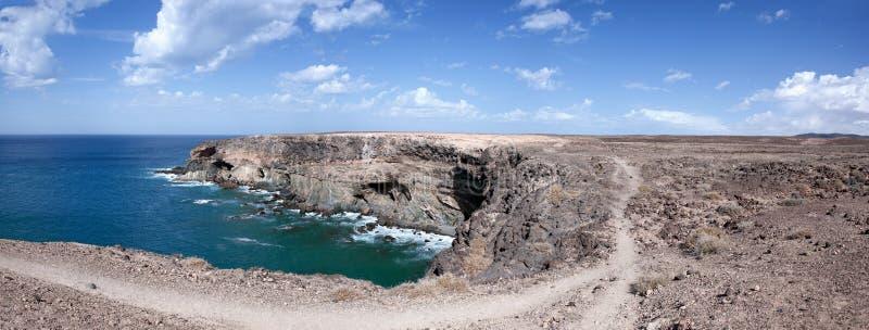 Fuerteventura - Caleta Negra in het noorden van Ajuy royalty-vrije stock fotografie
