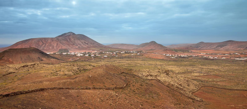 Fuerteventura do norte interno fotos de stock royalty free