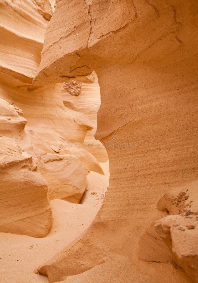 Fuerteventura du nord, Barranco de los Enamorados photo libre de droits