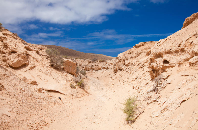 Fuerteventura du nord intérieur photographie stock