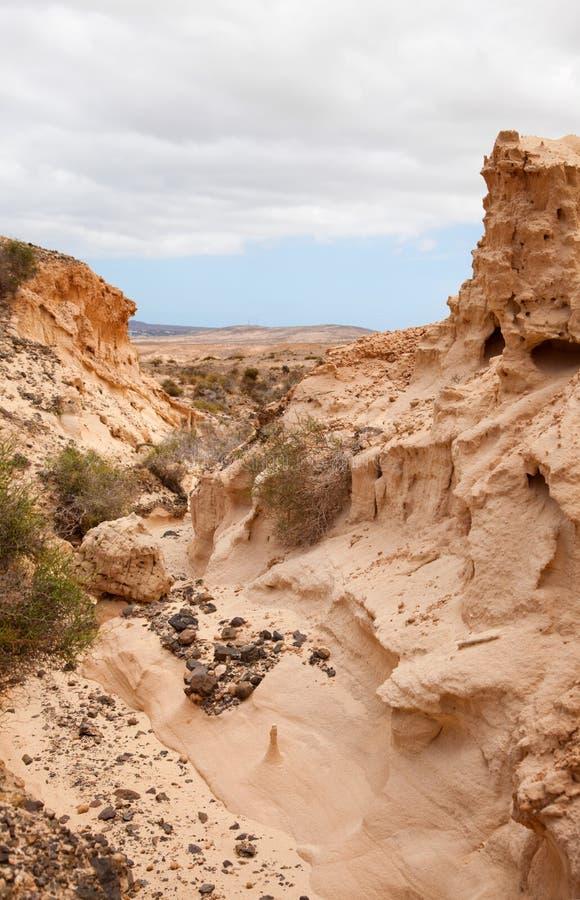 Fuerteventura du nord intérieur image libre de droits