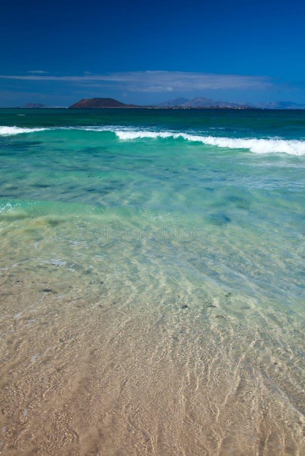 Fuerteventura du nord, plage de Corraejo Grandes Playas image libre de droits