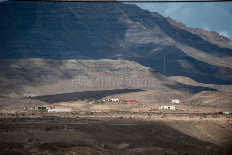 Fuerteventura, ferme sous le volcan images stock