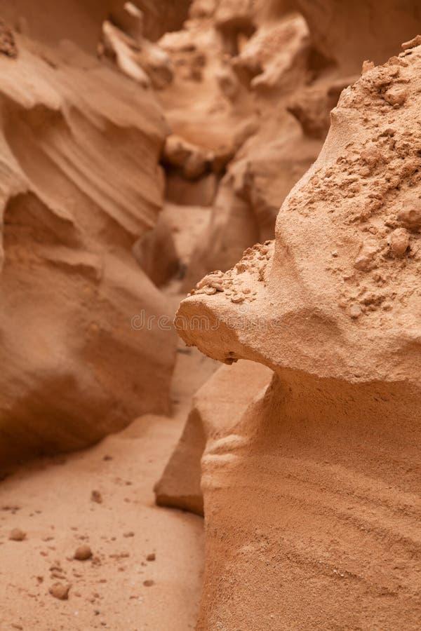 Fuerteventura interno do norte, barranco de los enamorados fotografia de stock