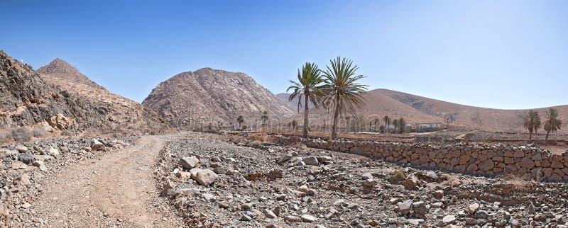 Fuerteventura - Landschap dichtbij Buen Paso stock afbeelding