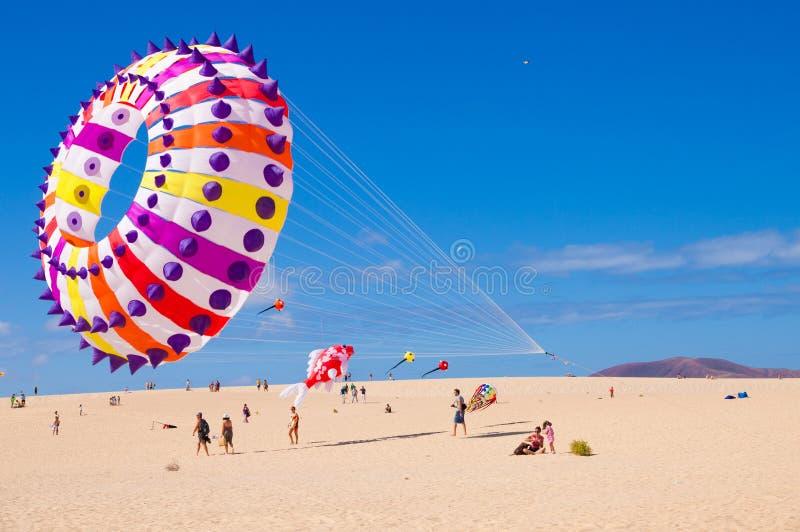FUERTEVENTURA - NOVEMBER 13: Kite festival stock photo