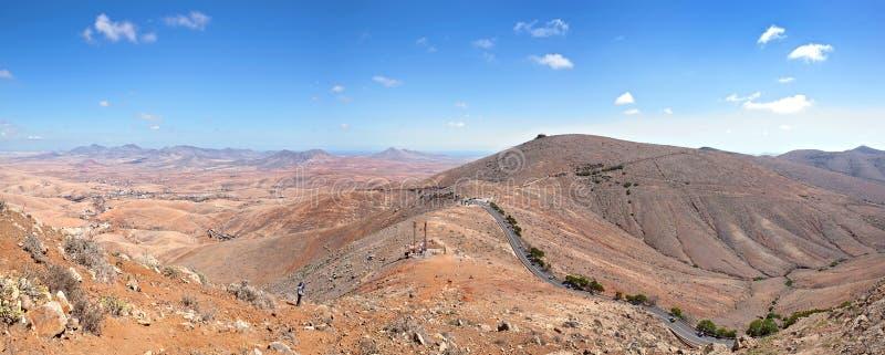 Fuerteventura - Panorama van Morro DE La Cruz stock foto's