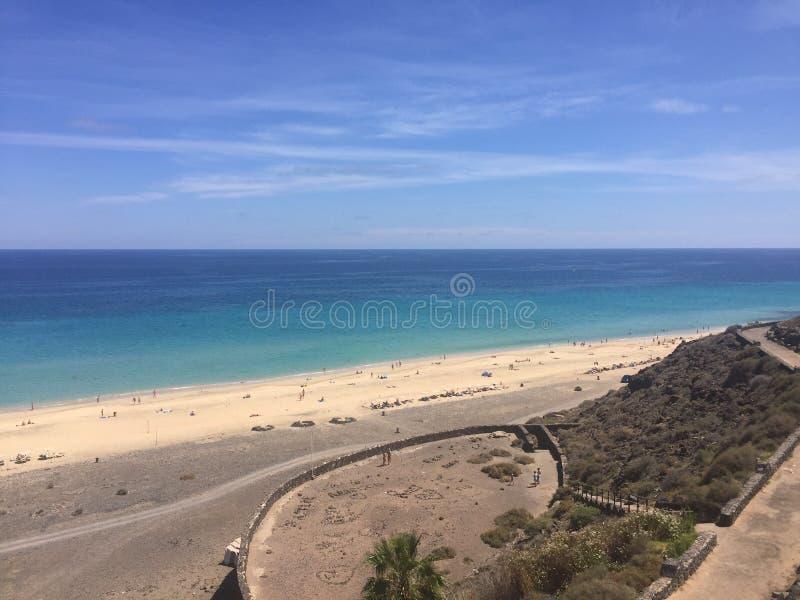 Fuerteventura strandsikt fotografering för bildbyråer