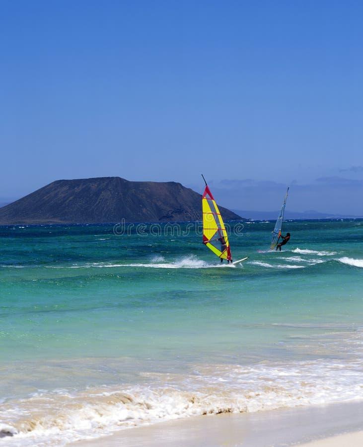 Fuerteventura windsurfing stock photos