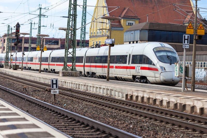 ICE 3, intercity-Express train from Deutsche Bahn royalty free stock photos