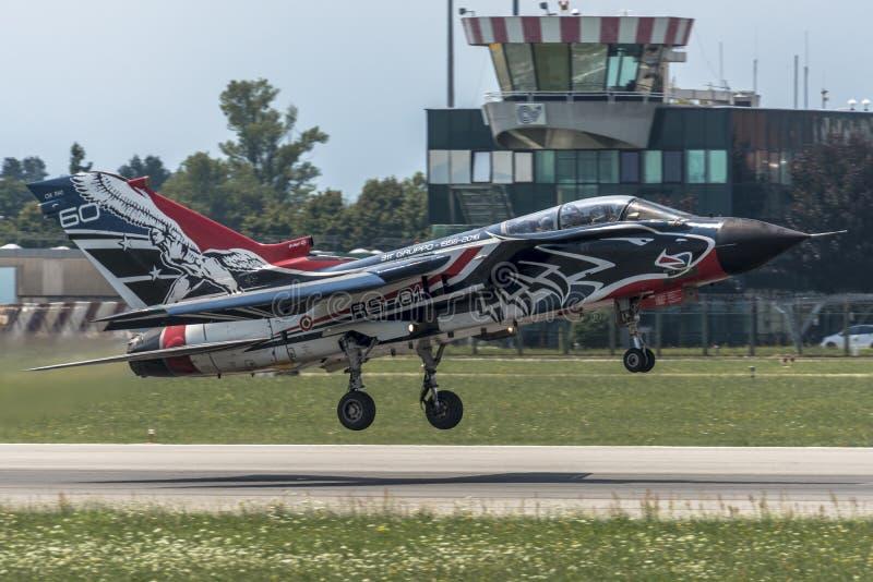 Fuerza aérea del italiano del tornado PA-2000 de Panavia imagen de archivo libre de regalías