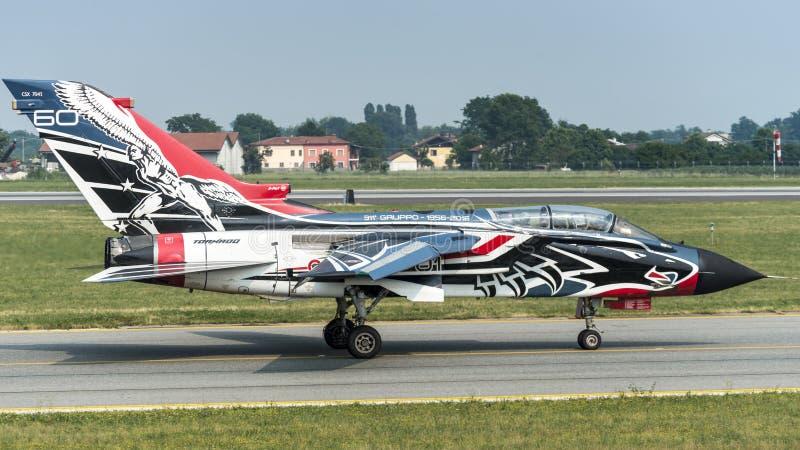 Fuerza aérea del italiano del tornado PA-2000 de Panavia fotografía de archivo libre de regalías