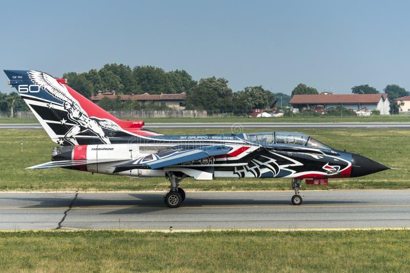 Fuerza aérea del italiano del tornado PA-2000 de Panavia fotos de archivo