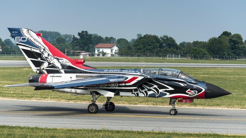 Fuerza aérea del italiano del tornado PA-2000 de Panavia fotos de archivo libres de regalías