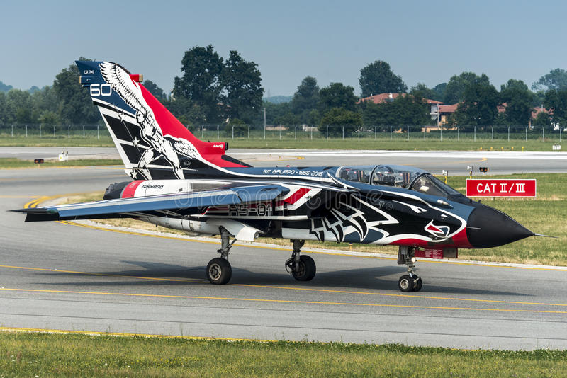 Fuerza aérea del italiano del tornado PA-2000 de Panavia foto de archivo libre de regalías