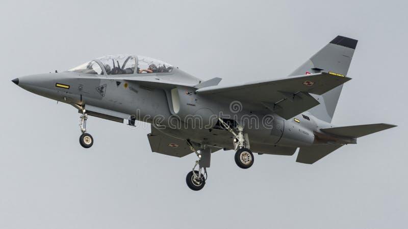 Fuerza aérea del polaco de Aermacchi MB346 MT55225 imágenes de archivo libres de regalías