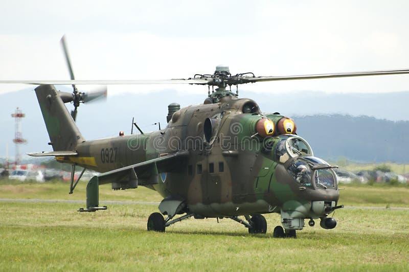 Fuerza aérea rusa Mi-24 imagen de archivo