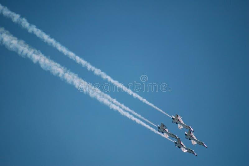 Fuerza aérea Thunderbirds fotos de archivo libres de regalías