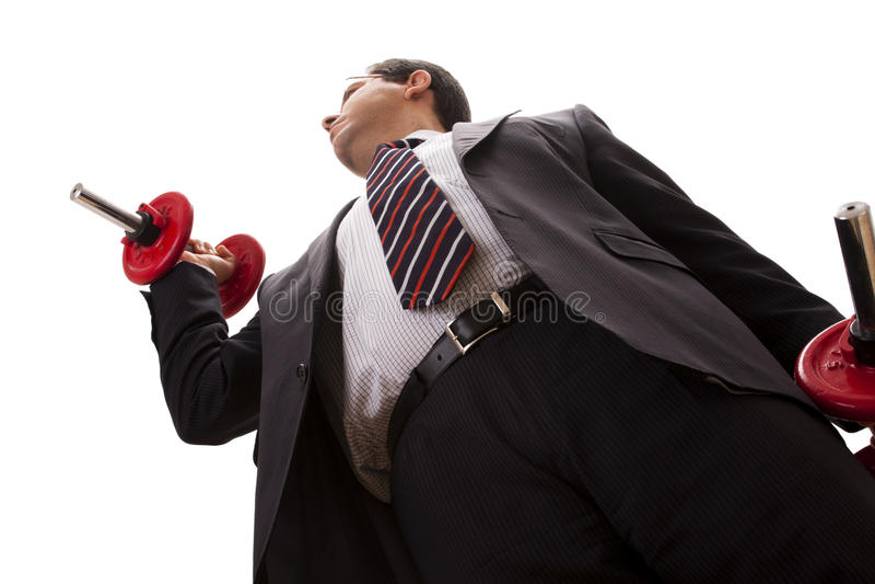 Fuerza del hombre de negocios foto de archivo libre de regalías