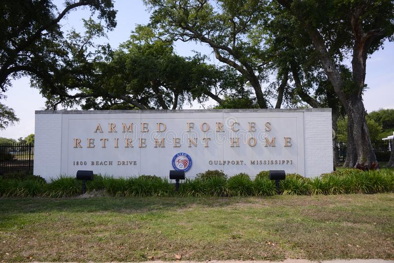 Fuerzas armadas de arma casa de retiro, Gulfport, ms fotos de archivo