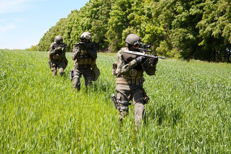 Fuerzas especiales de los soldados de Jagdkommando foto de archivo libre de regalías