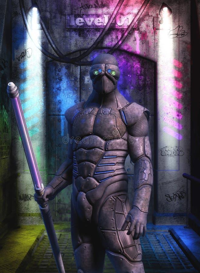 Fuerzas especiales del soldado futurista libre illustration