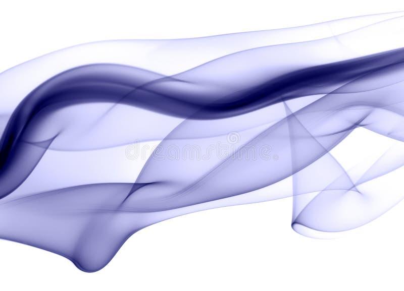 Fuga azul do fumo ilustração royalty free