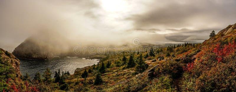 Fuga da costa leste em Terra Nova, Canadá imagem de stock