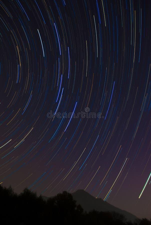 A fuga da estrela do Ursa Maior e a montagem Tsukuba fotografia de stock