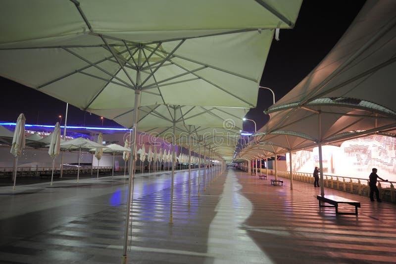 A fuga 2010 da linha central da expo do mundo de Shanghai fotografia de stock royalty free