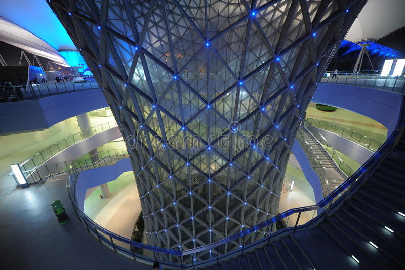 A fuga 2010 da linha central da expo do mundo de Shanghai fotos de stock