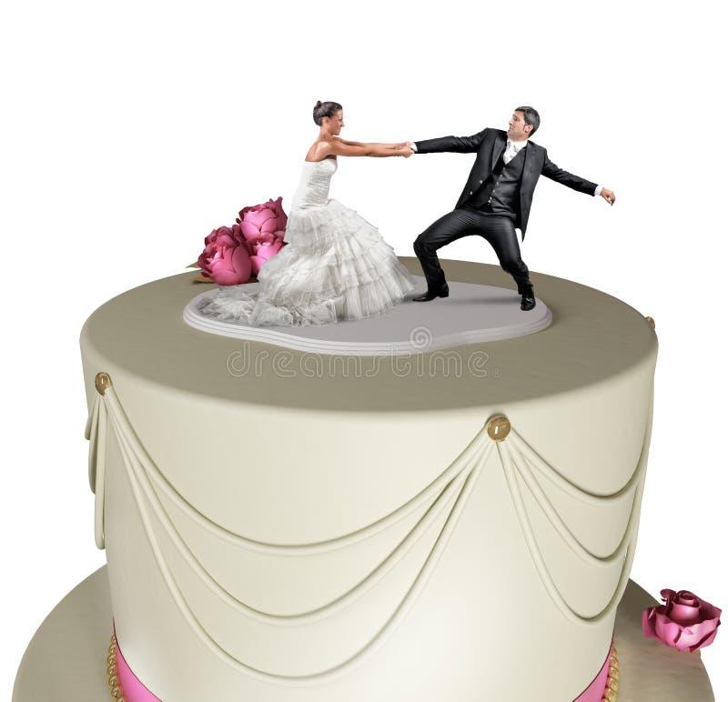 Fuga dal matrimonio fotografie stock