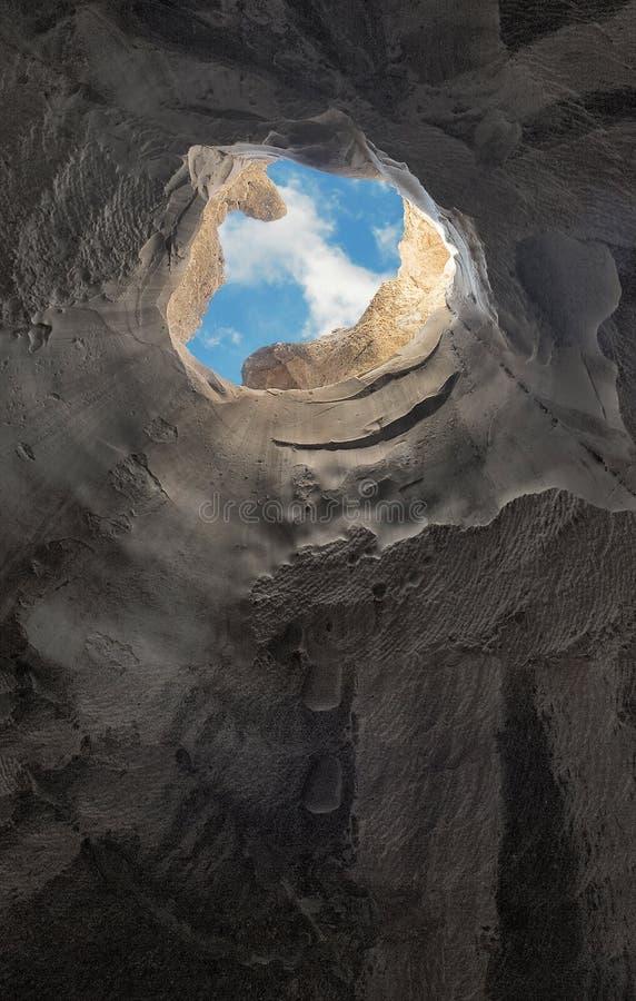 Fuga dalla caverna fotografia stock libera da diritti