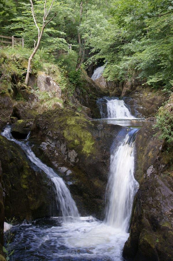Fuga das cachoeiras de Ingleton imagens de stock
