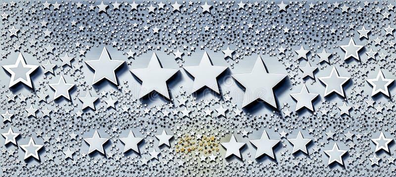 Fuga das estrelas com formas e tamanhos diferentes ilustração royalty free