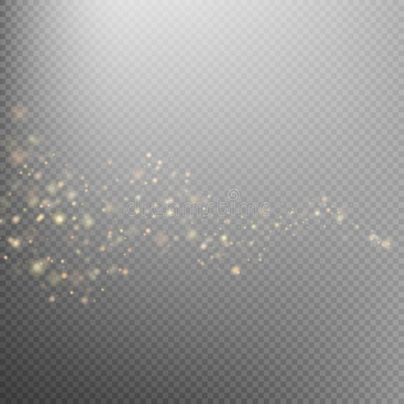 Fuga de brilho da poeira de estrela do ouro Eps 10 ilustração royalty free