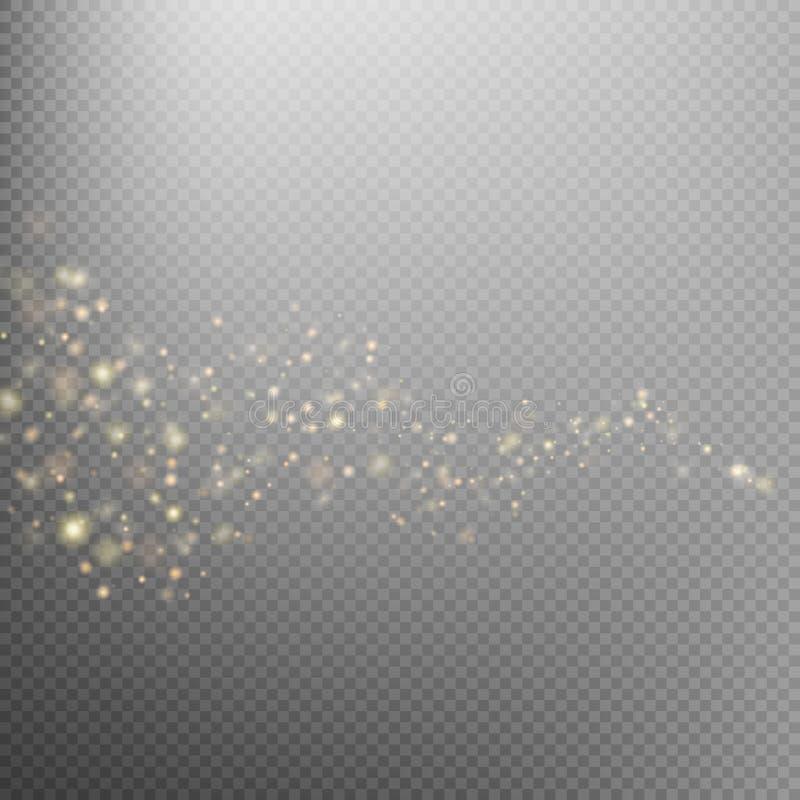 Fuga de brilho da poeira de estrela do ouro Eps 10 ilustração do vetor