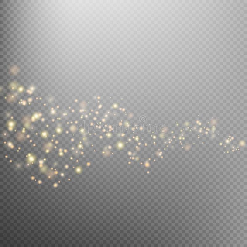 Fuga de brilho da poeira de estrela do ouro Eps 10 ilustração stock