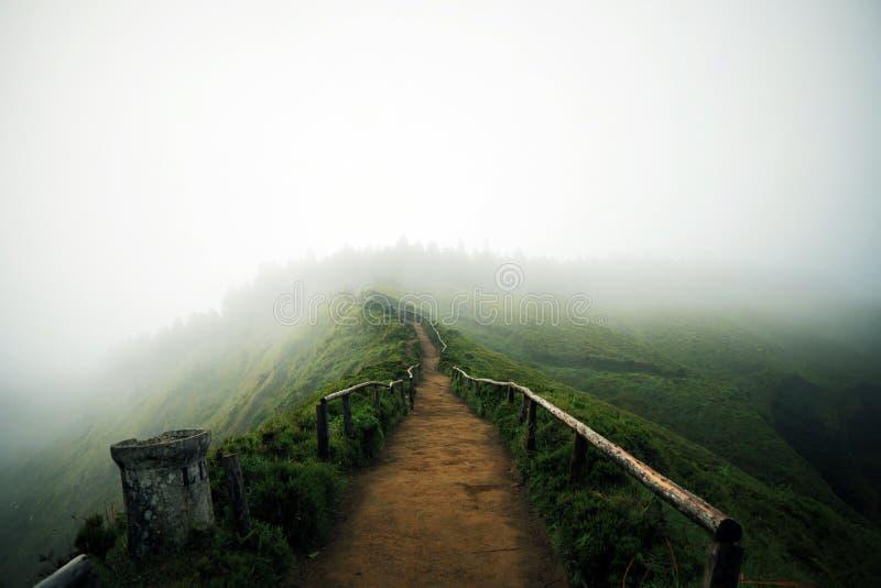 Fuga de caminhada em Açores fotografia de stock royalty free